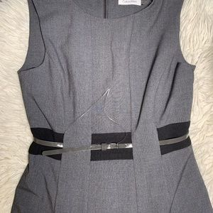 Calvin Klein Dresses - • Calvin Klein Belted Career Petite Dress •